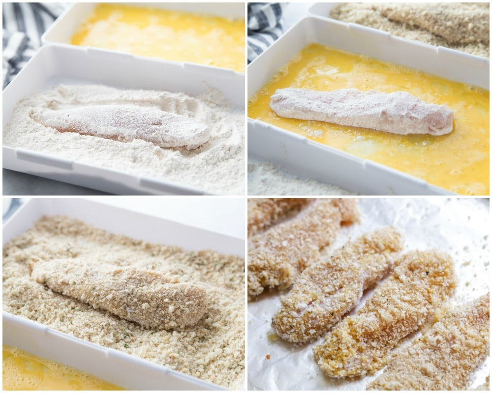 How to make Baked Chicken fingers process pics