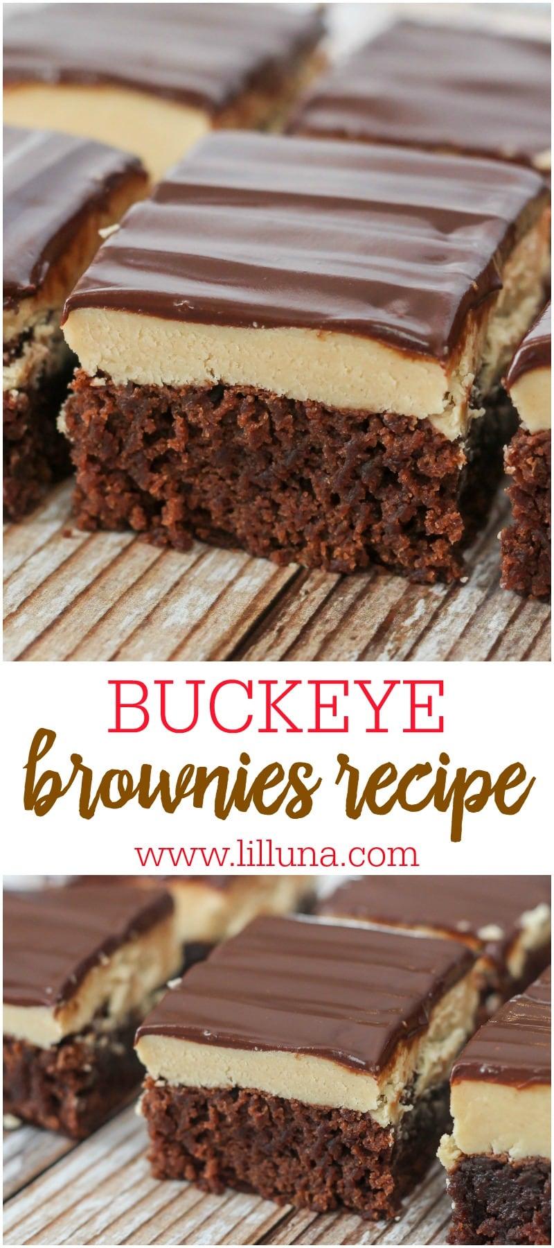 BEST Buckeye Brownies recipe