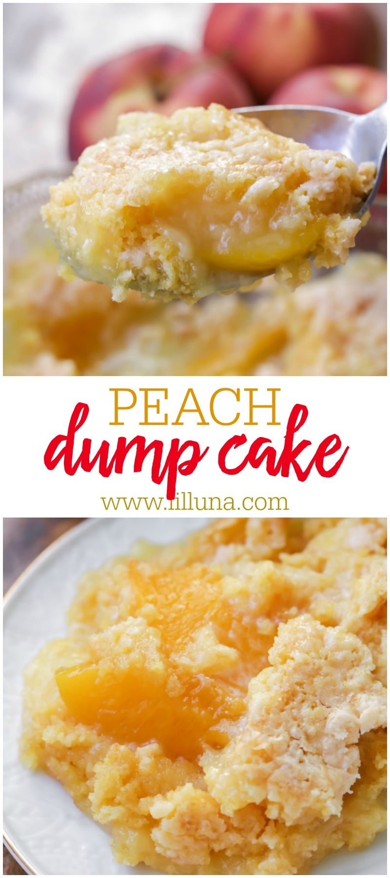 Delicious Peach Dump Cake