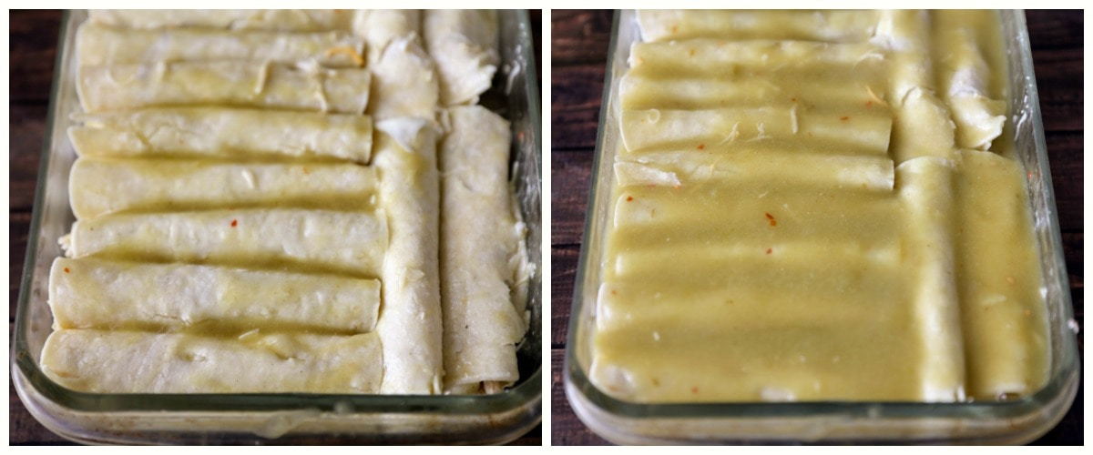 Best Green Chile Chicken Enchiladas Video Lil Luna