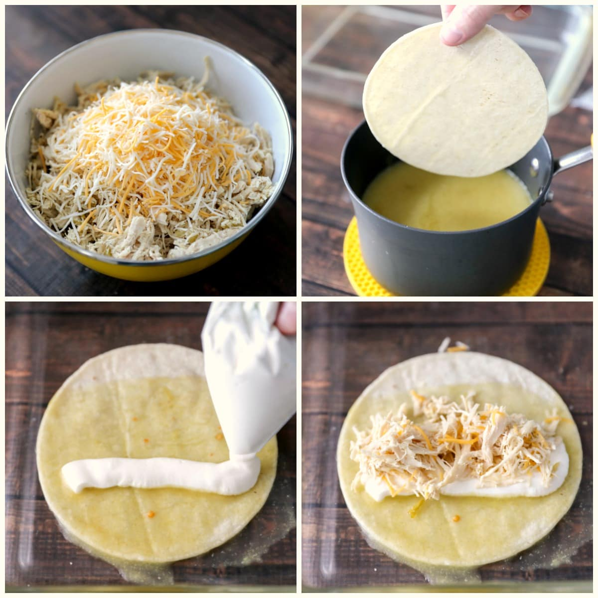 How to Make Chicken Enchiladas - process pics