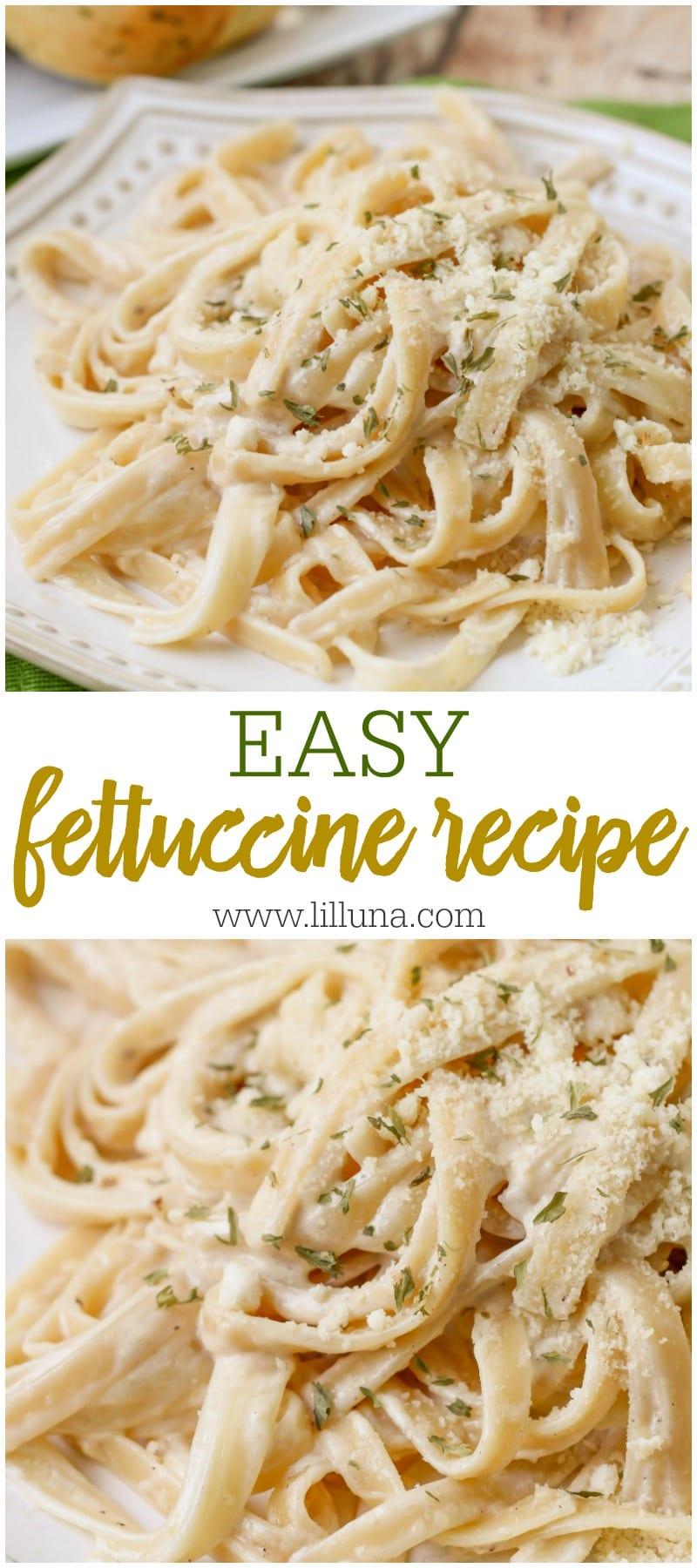 Easy Fettuccine Alfredo