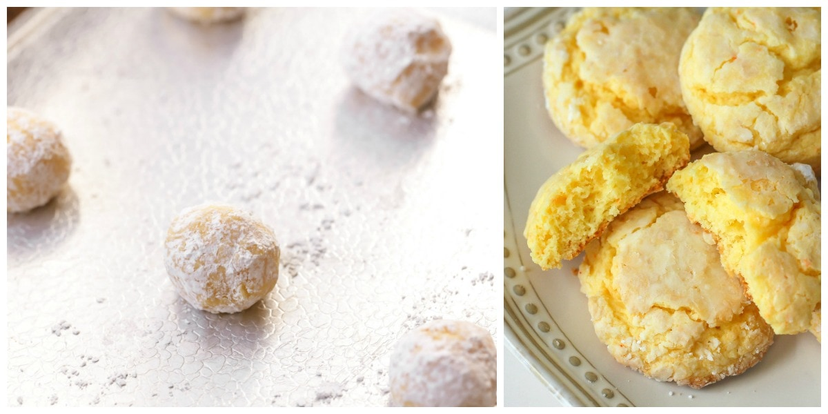 Yellow Cake Mix Cookies process pics