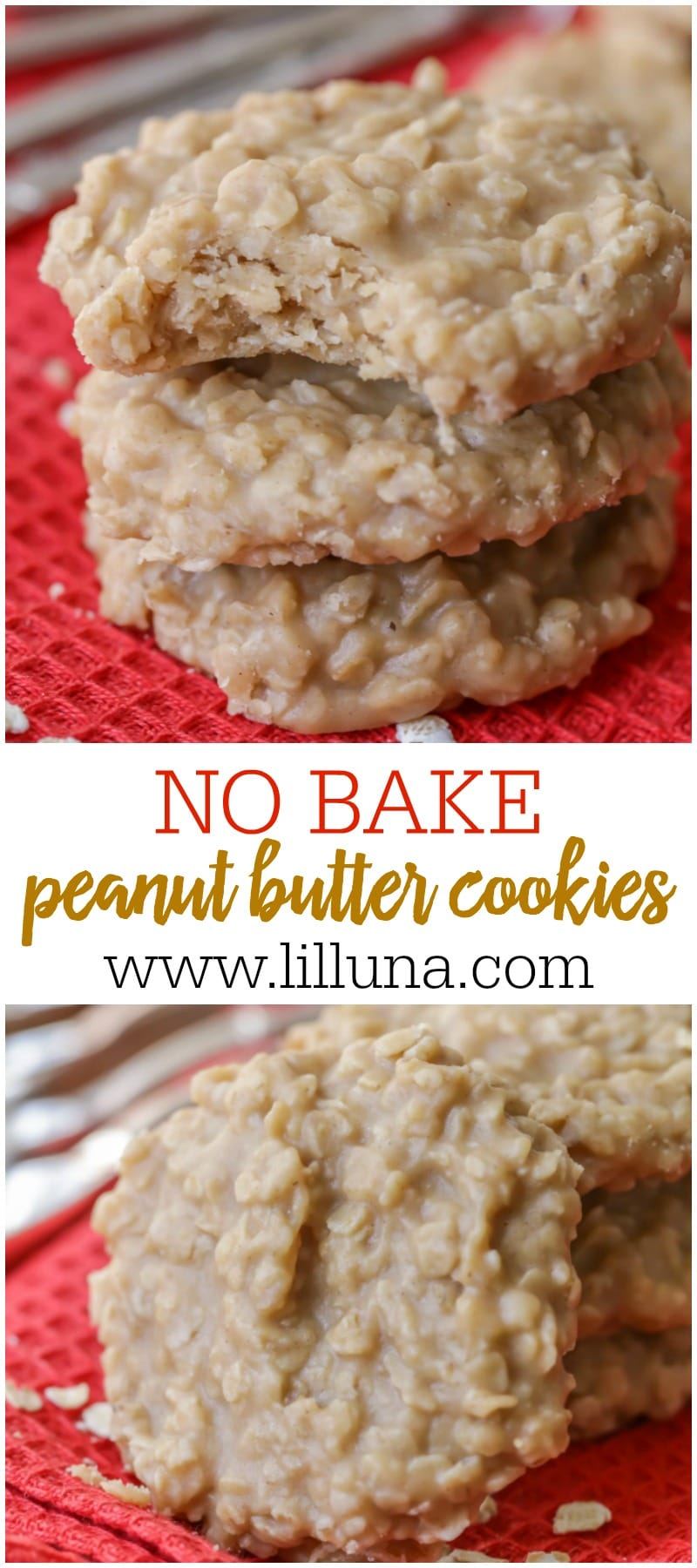 BEST Peanut Butter No Bake Cookies