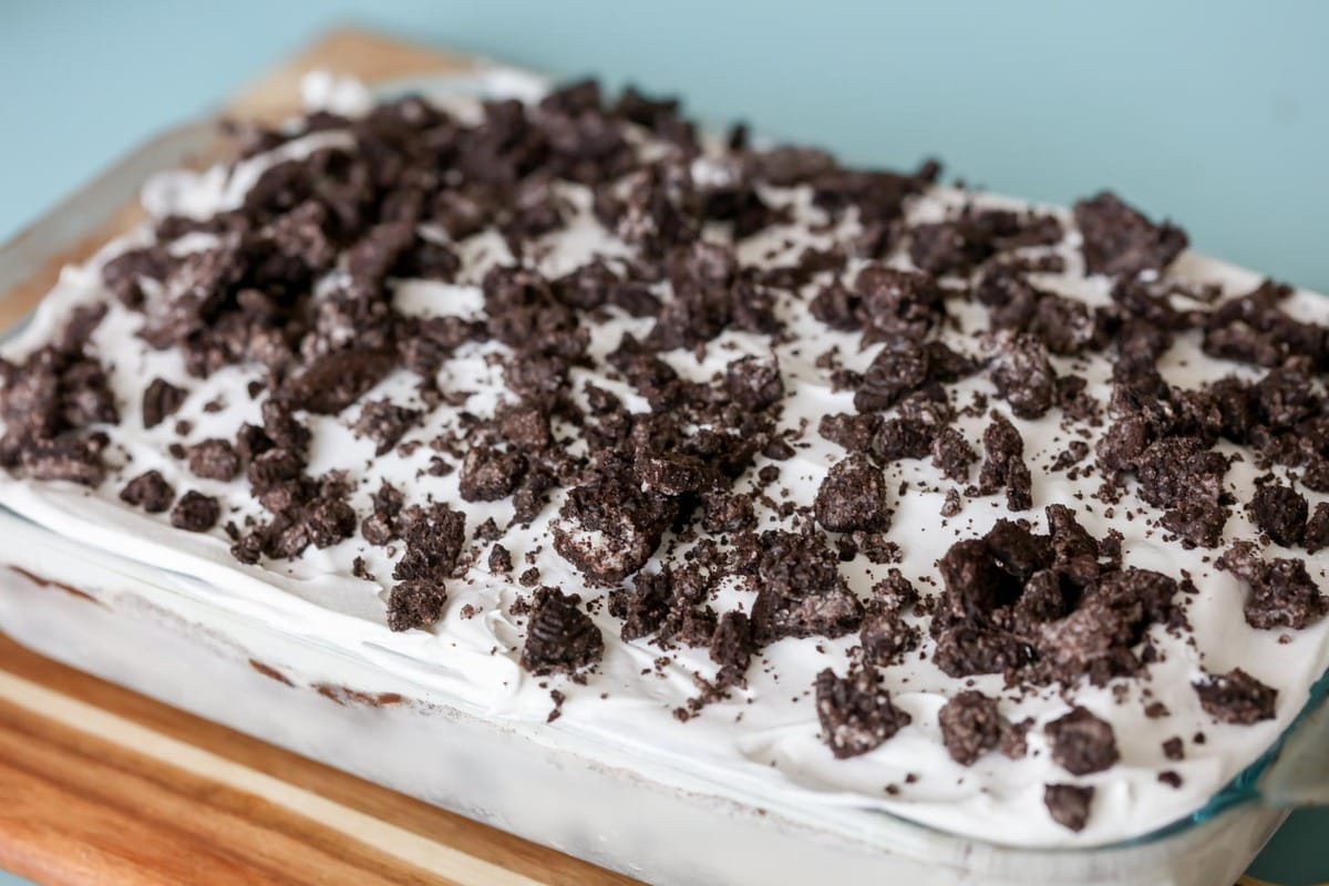 Homemade Ice Cream Cake With Oreo Crust