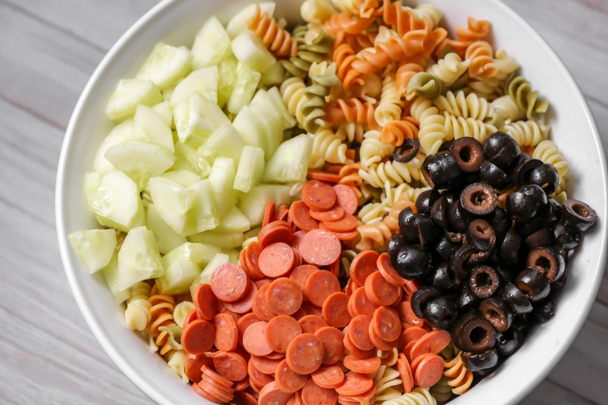 Easy Pasta Salad Recipe With Italian Dressing Video Lil