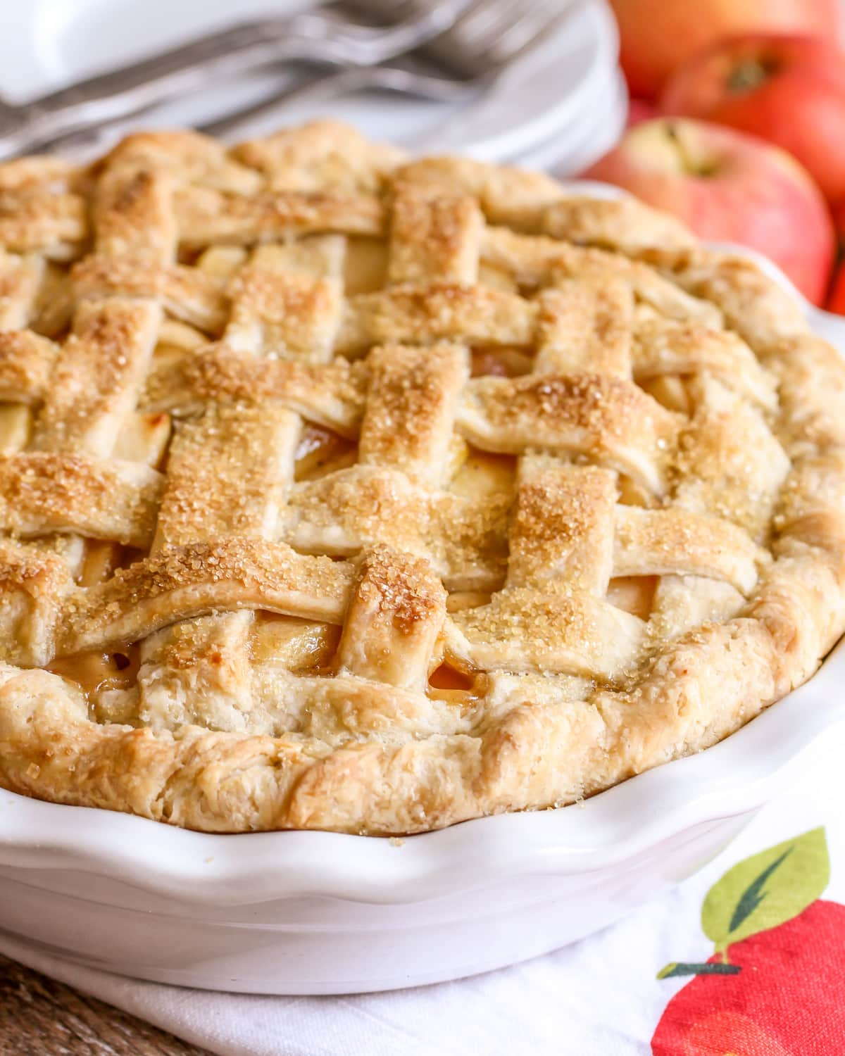Homemade Apple Pie recipe close up image