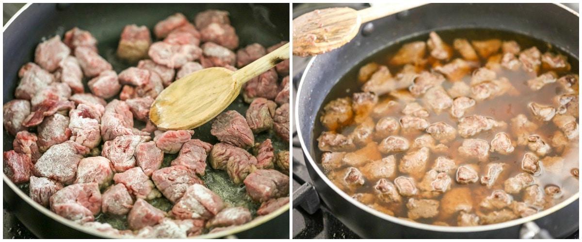 Easy beef stroganoff process pics