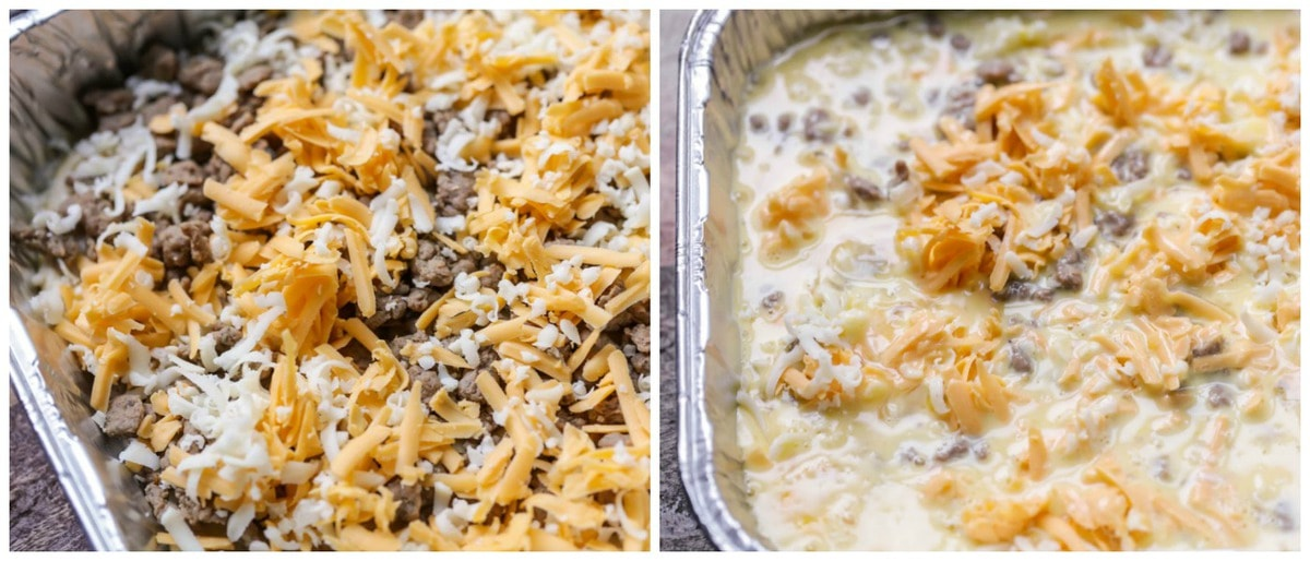 process pictures of how to Make Breakfast Egg Casserole