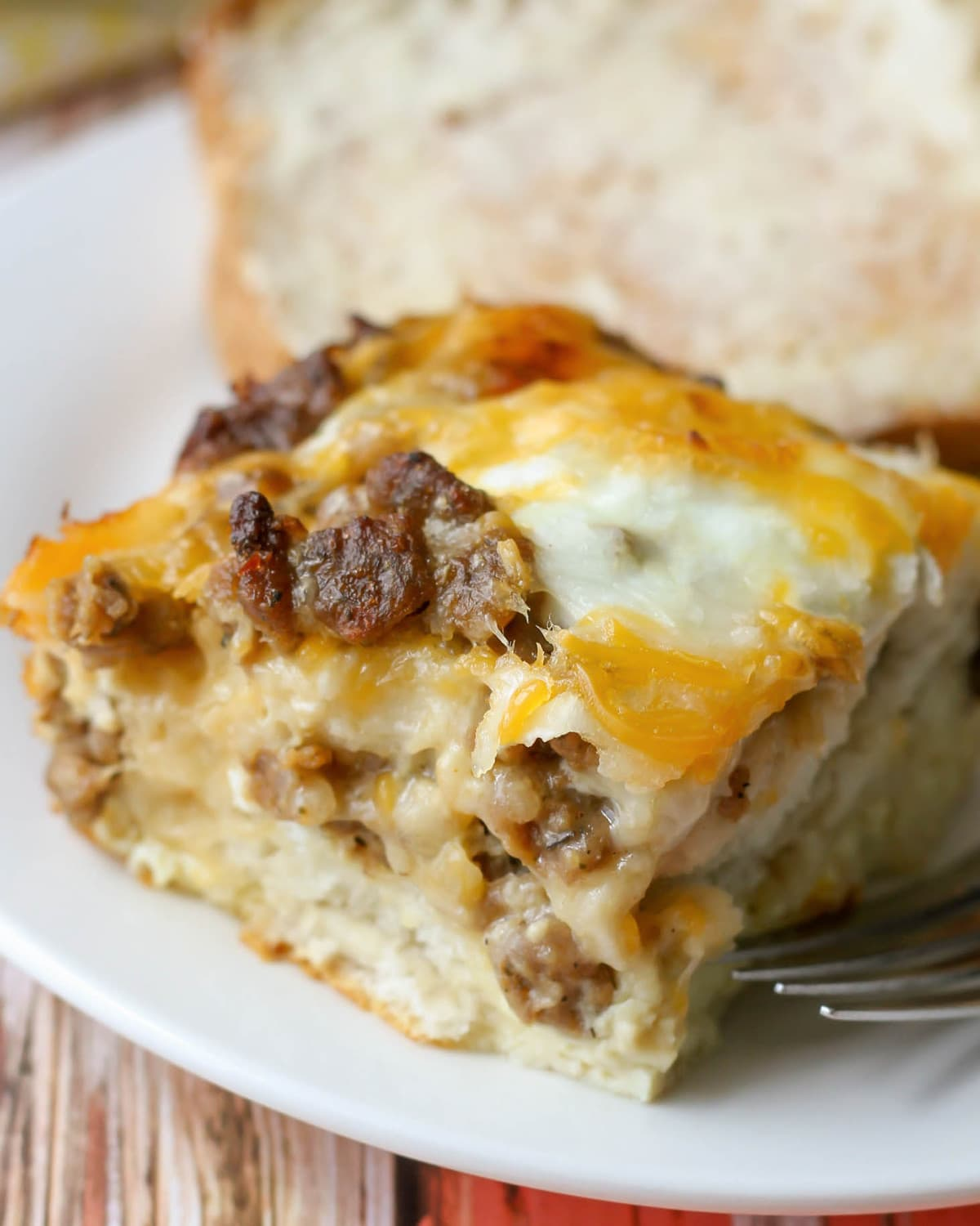 Sausage Egg Cheese Casserole