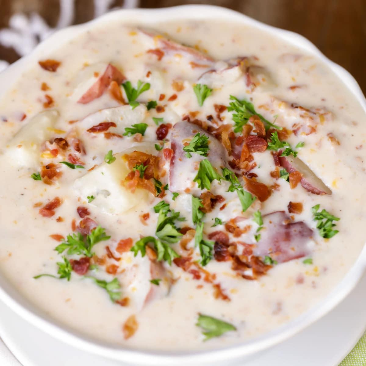 Crockpot Potato Soup Recipe Lil Luna