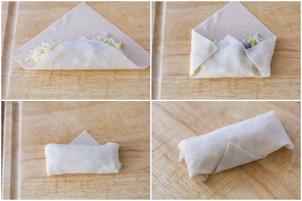 How to make egg rolls process images