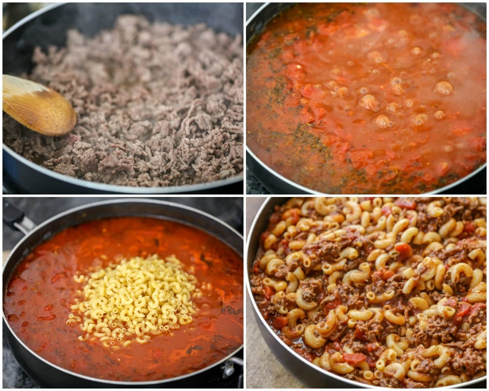 How to Make Goulash Process Pictures