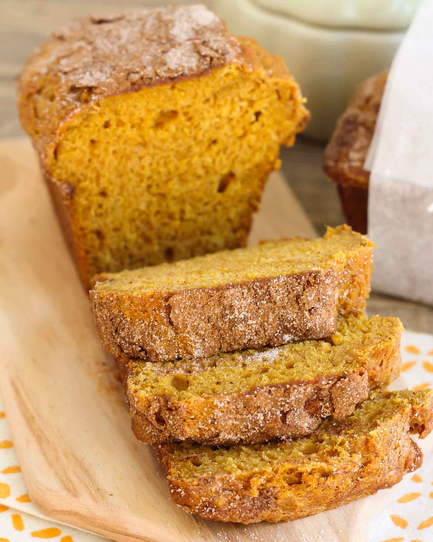 Best Pumpkin Bread loaf cut into slices
