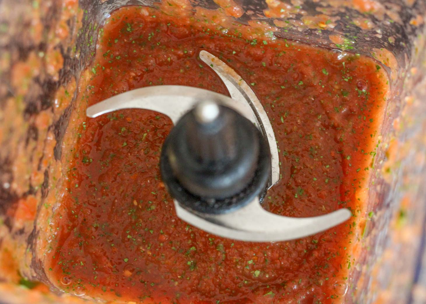 Easy Homemade Salsa in a blender