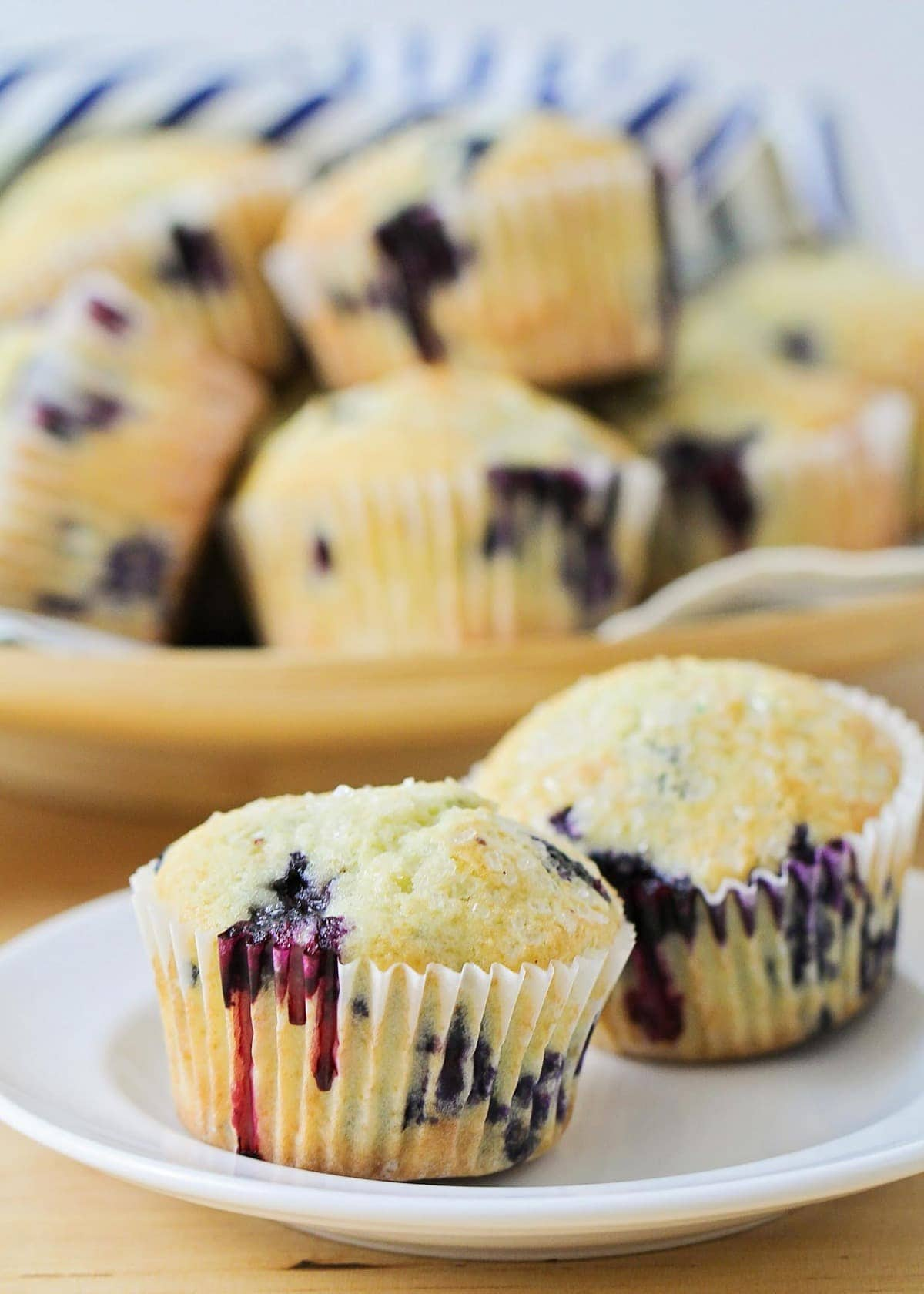 Blueberry Muffin recipe on plate