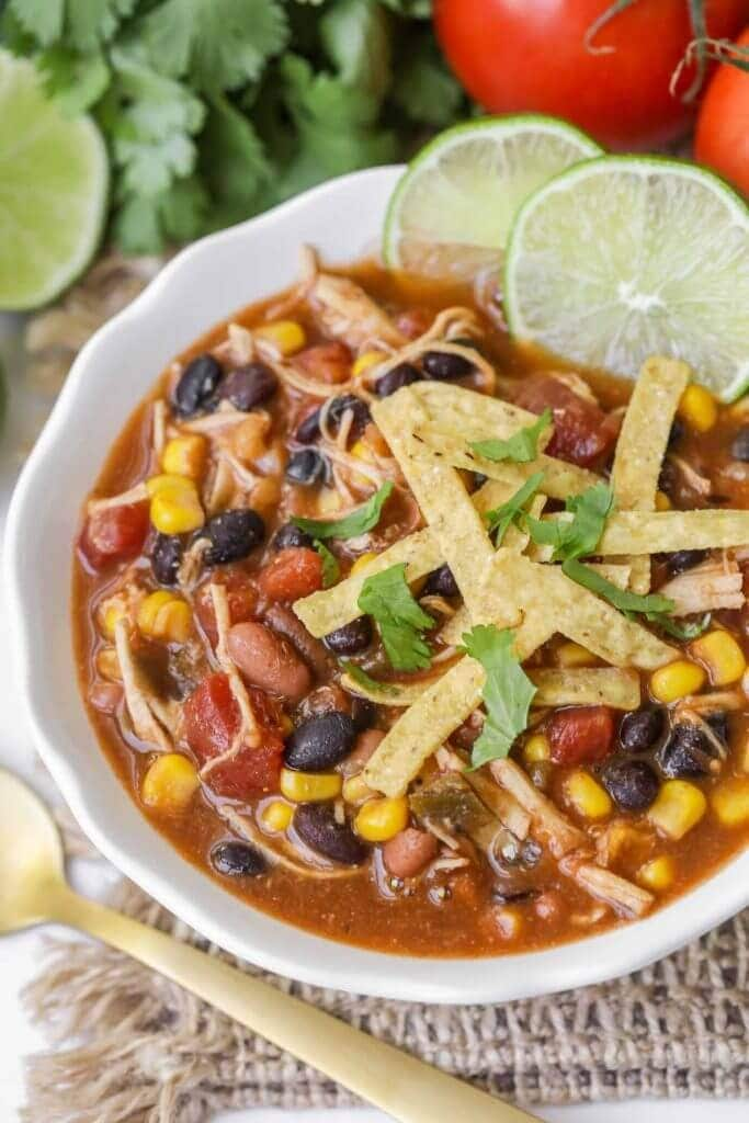 Easy Chicken Taco Soup Recipe So Simple And So Good Lil Luna