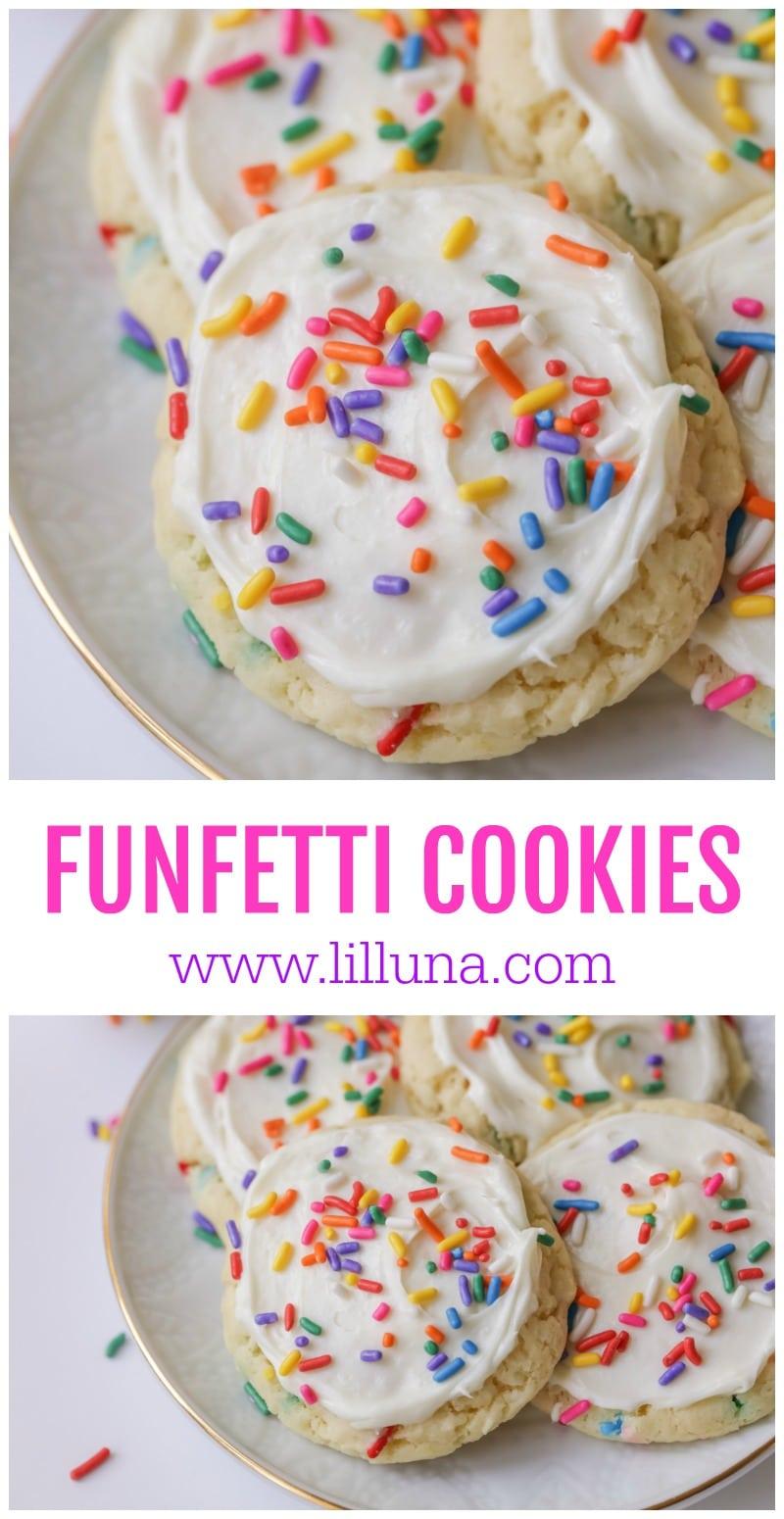 Easy Funfetti Cookies Lil Luna