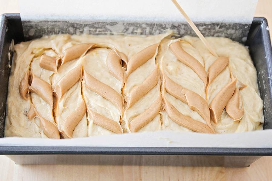 Peanut Butter Banana Swirl Bread