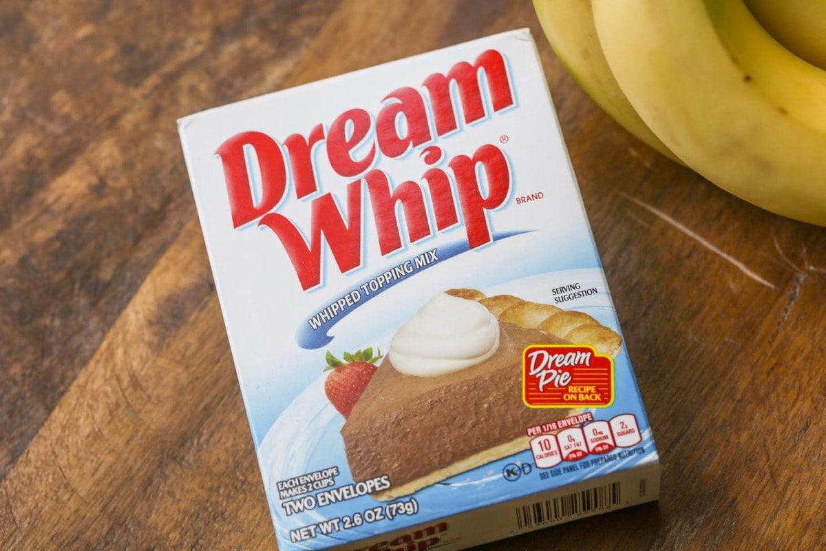 a box of Dream Whip whipped topping mix