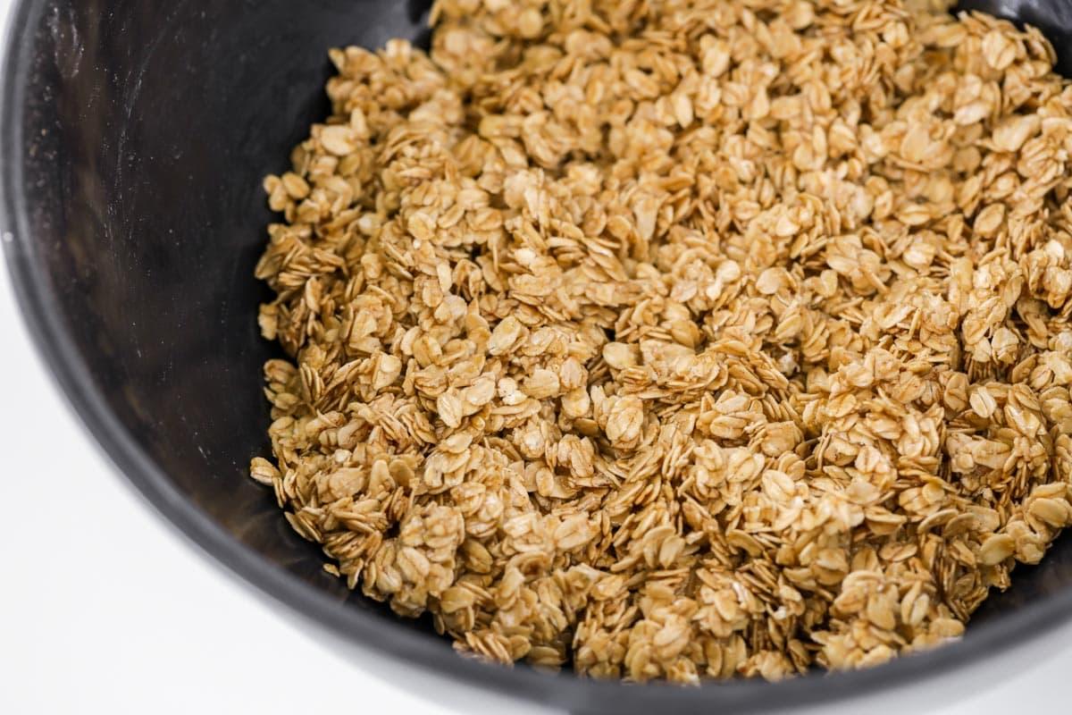 oats in a pan