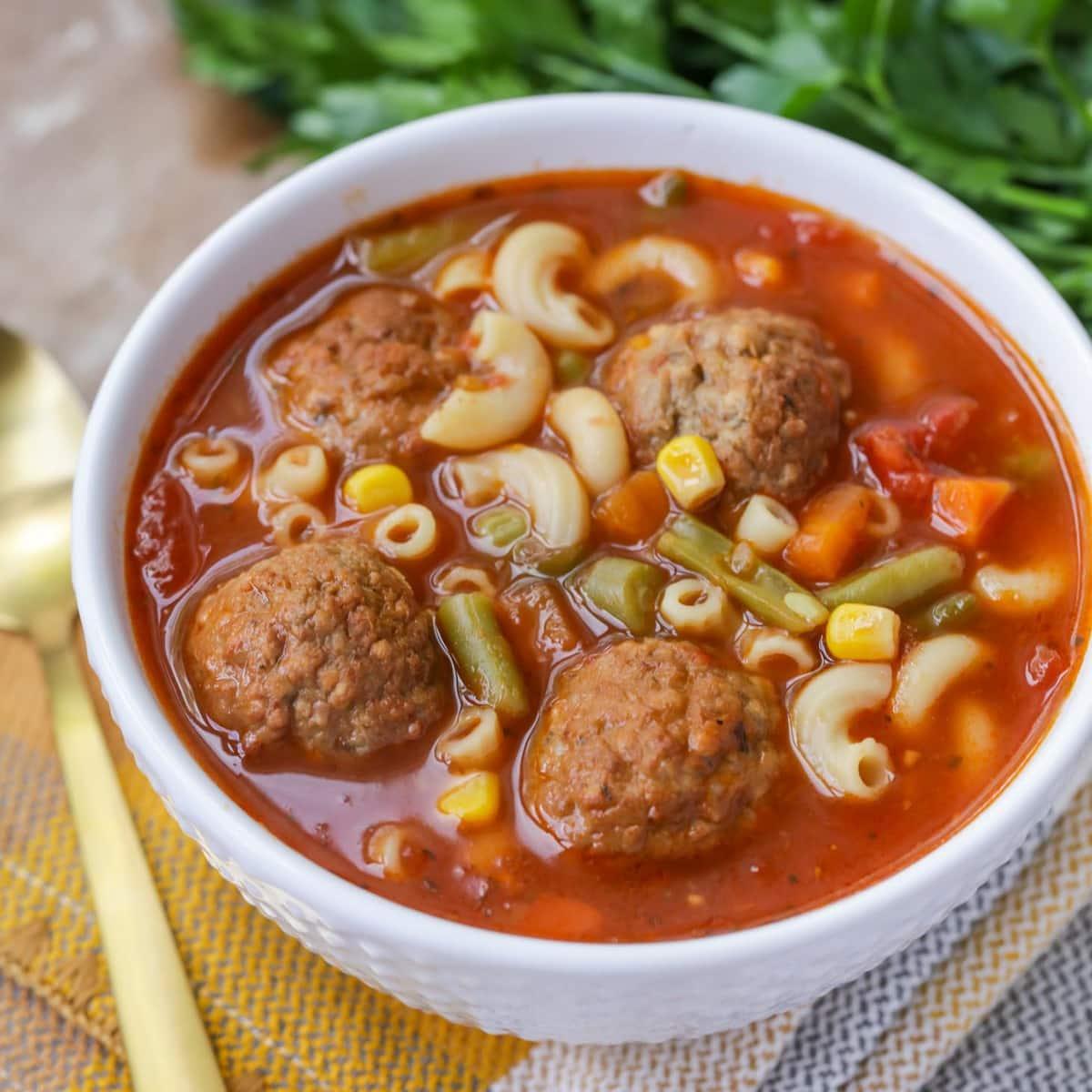 Meatball Soup Recipe | Lil' Luna