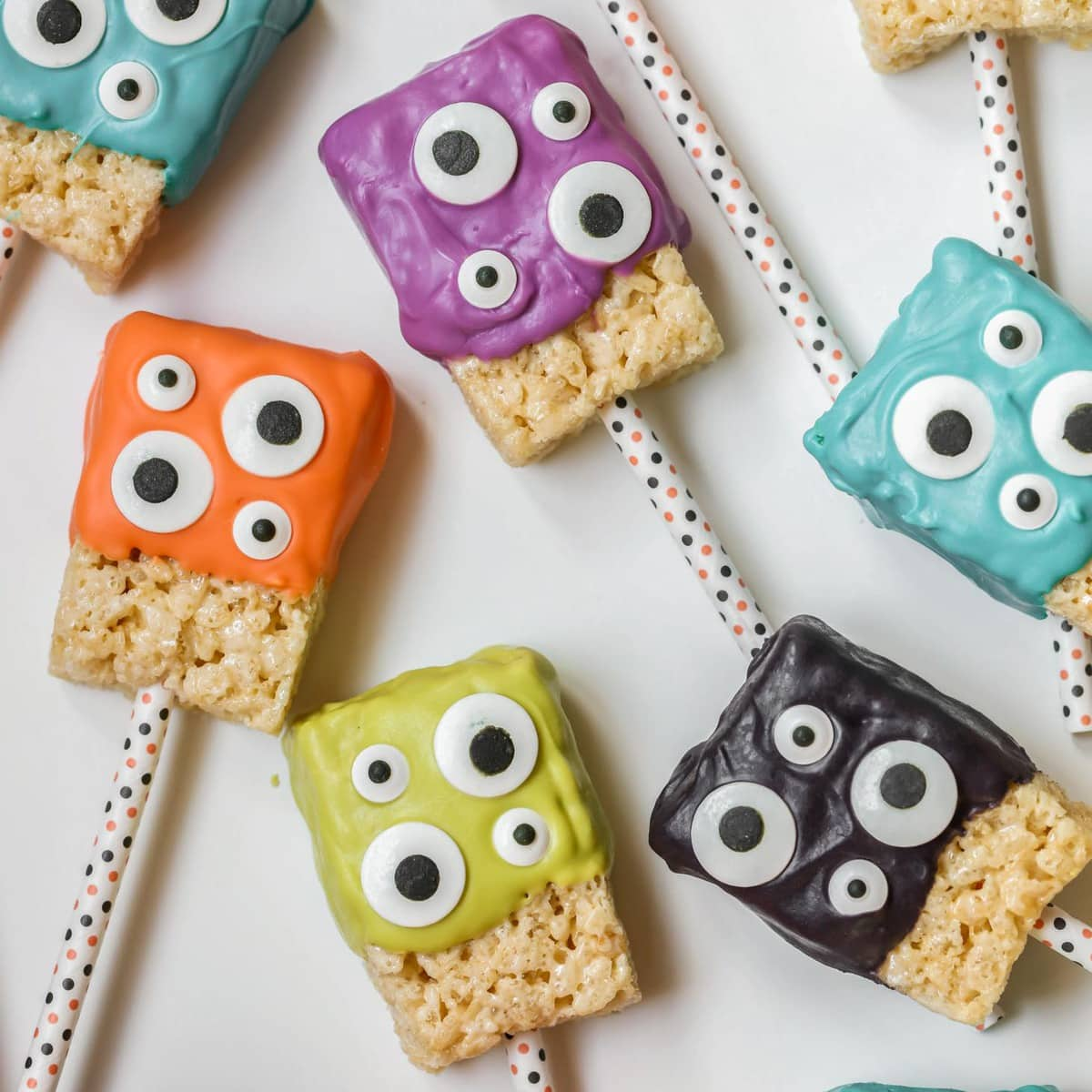Halloween Rice Krispies - Monster rice krispie treats