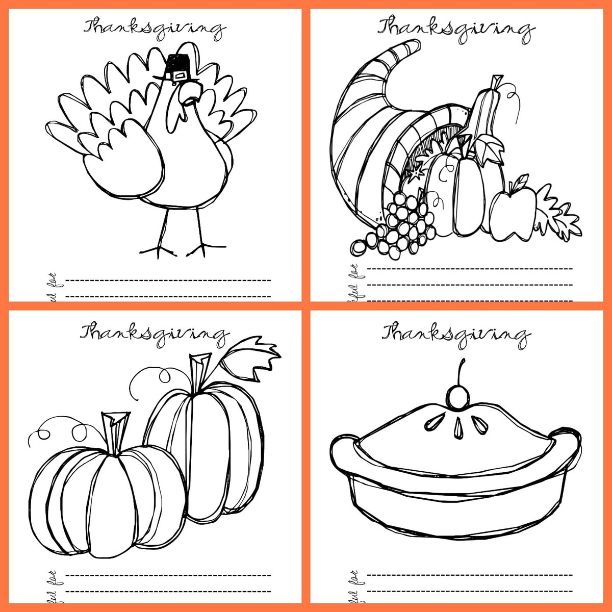 image relating to Thanksgiving Printable Coloring Pages called Totally free Printable Thanksgiving Coloring Web pages Lil Luna