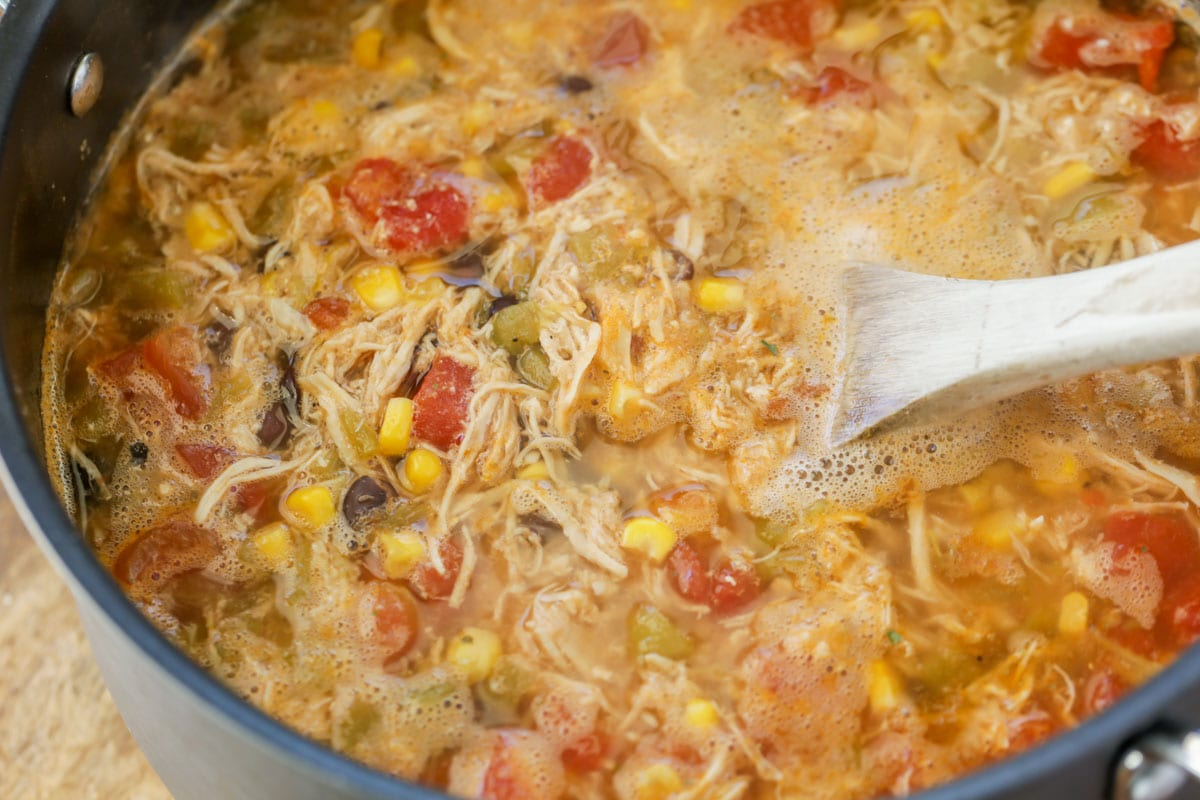how to make tortilla soup in a pot