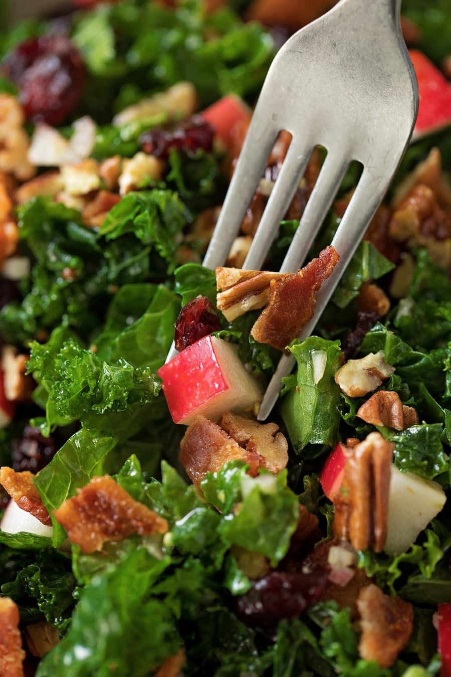 Kale Salad with Cranberries
