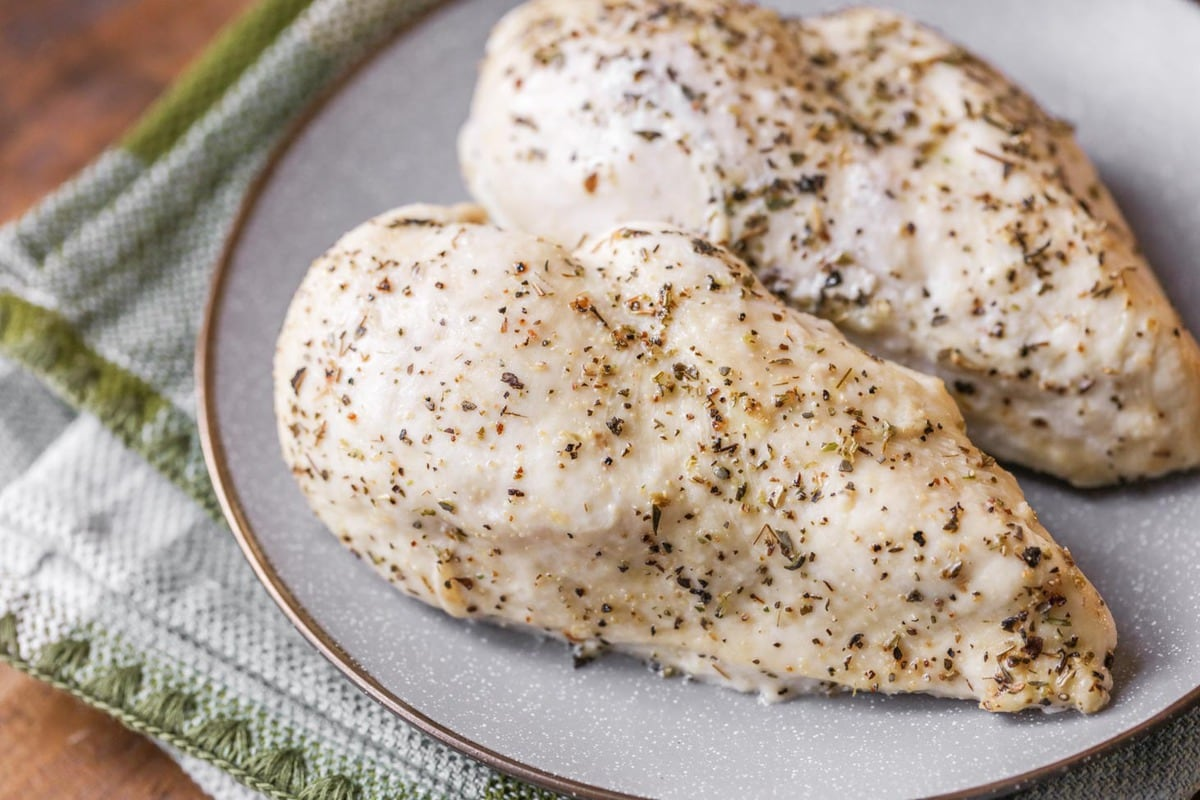 Oven Baked Chicken on Plate