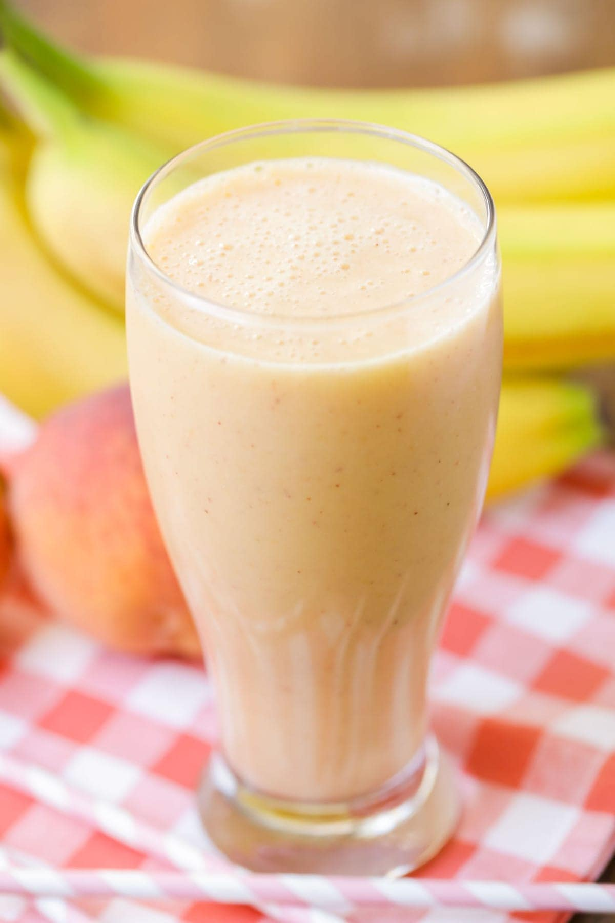 Peach Banana Smoothie in cup