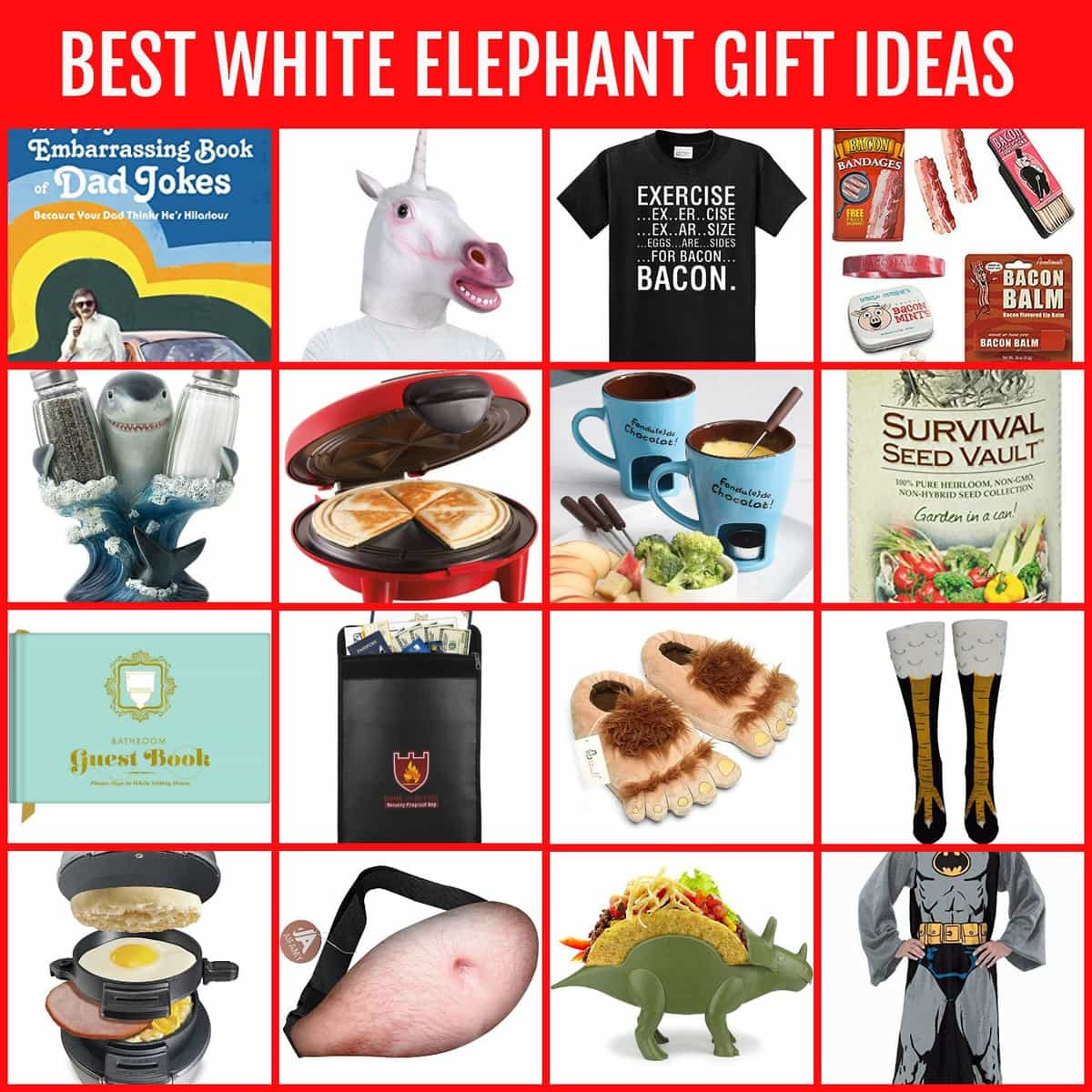 The BEST White Elephant Gifts - Funny, Useful & DIY Ideas! | Lil\' Luna