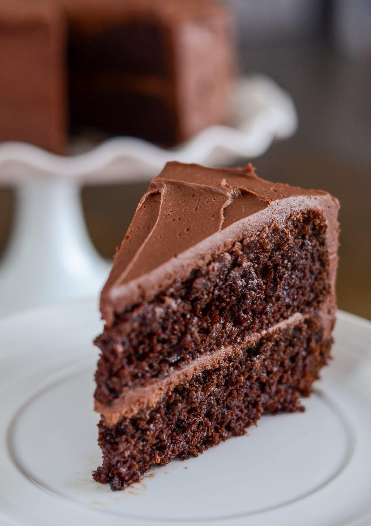 Easy Chocolate Cake Recipe Slice
