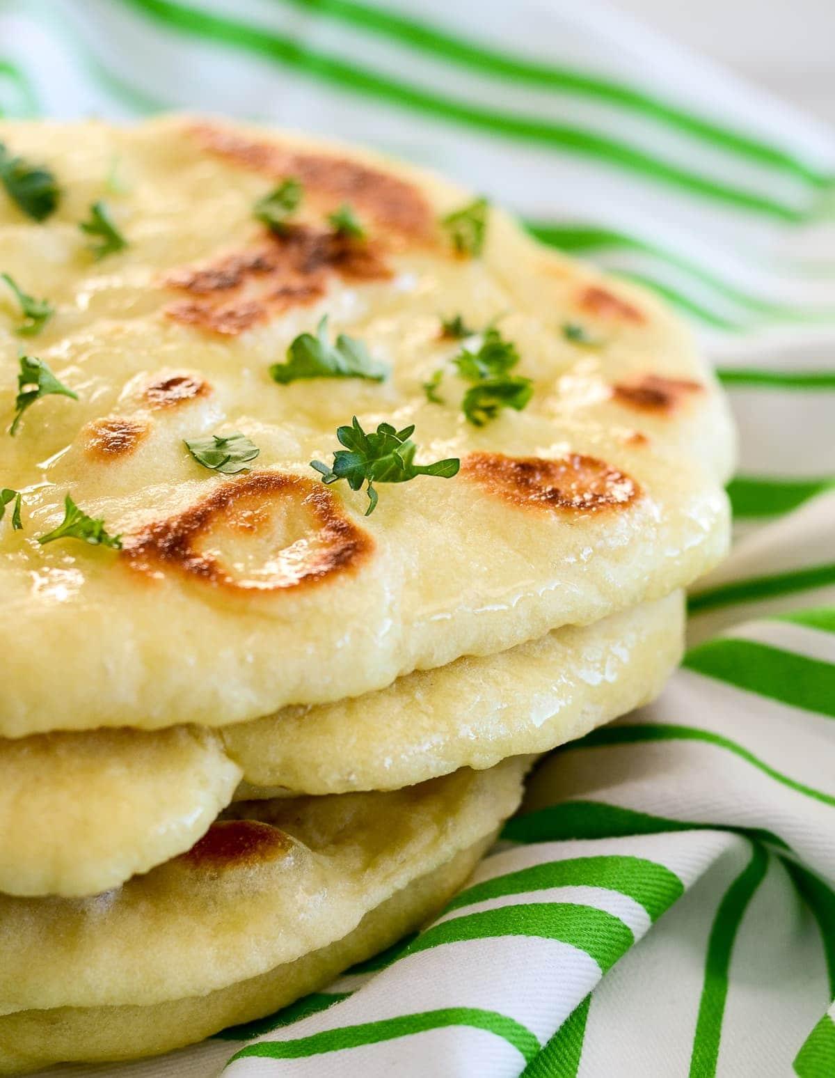 Homemade Naan Bread Recipe Video Lil Luna