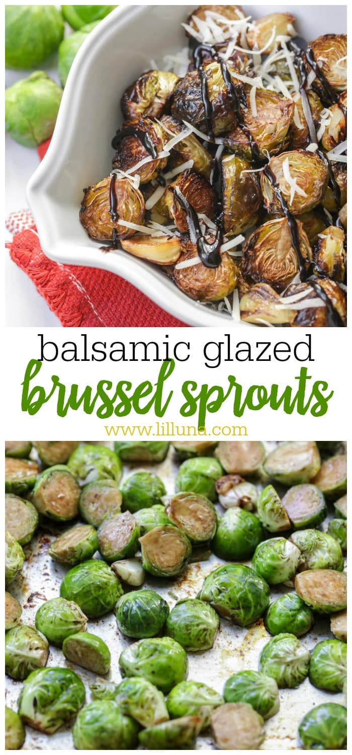 Balsamic Glazed Brussel Sprouts