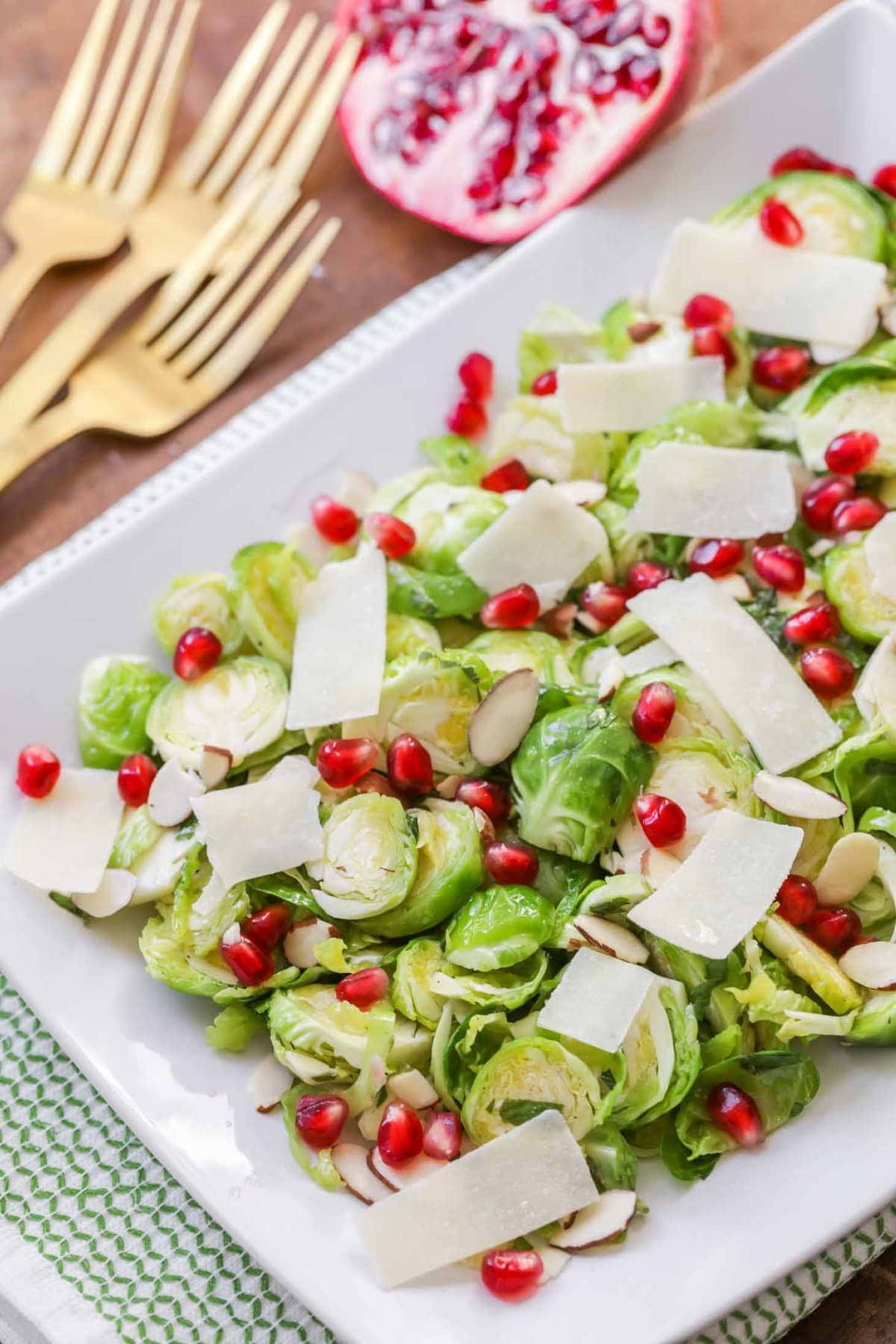 Brussel Sprout Salad Recipe on plate