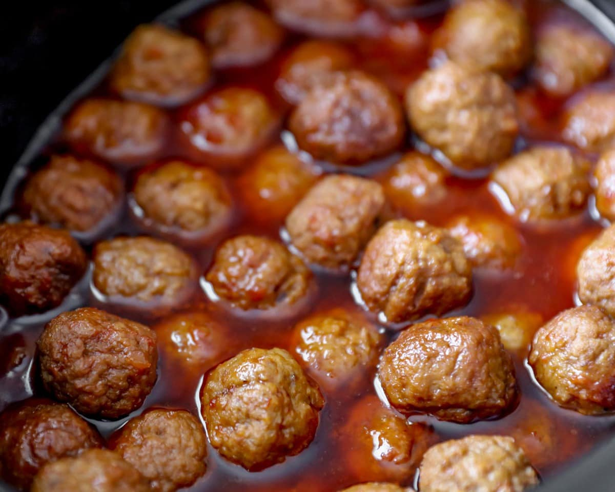 crockpot meatballs recipe in slow cooker