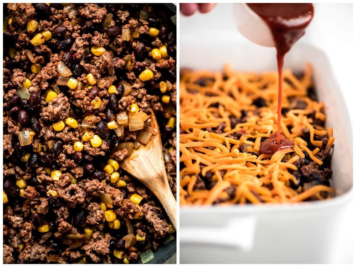 How to Make Enchilada Casserole Pics