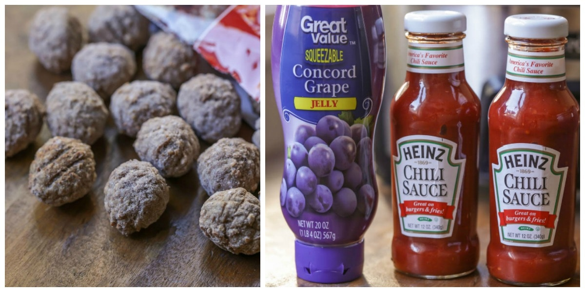 Grape Jelly Meatball ingredients