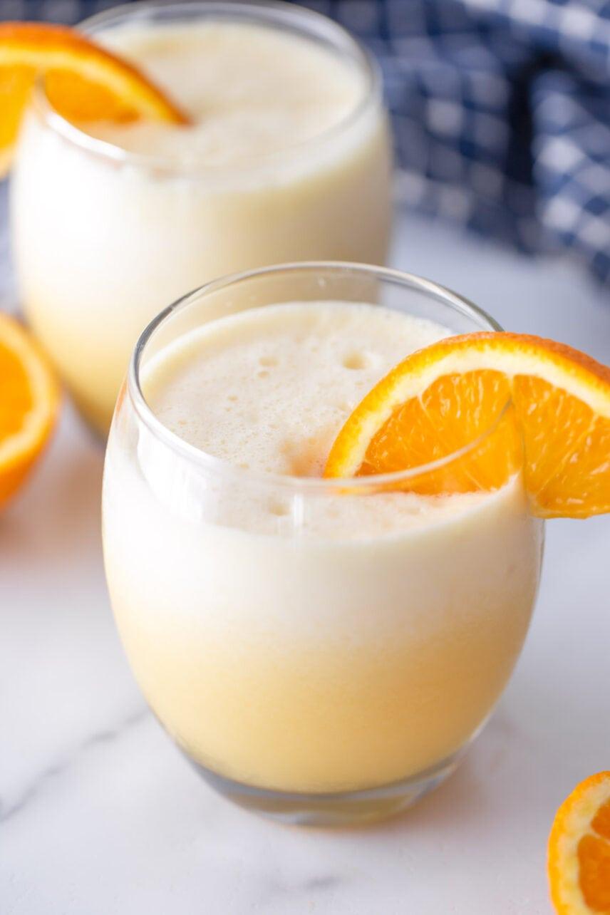 Orange Julius recipe close up image