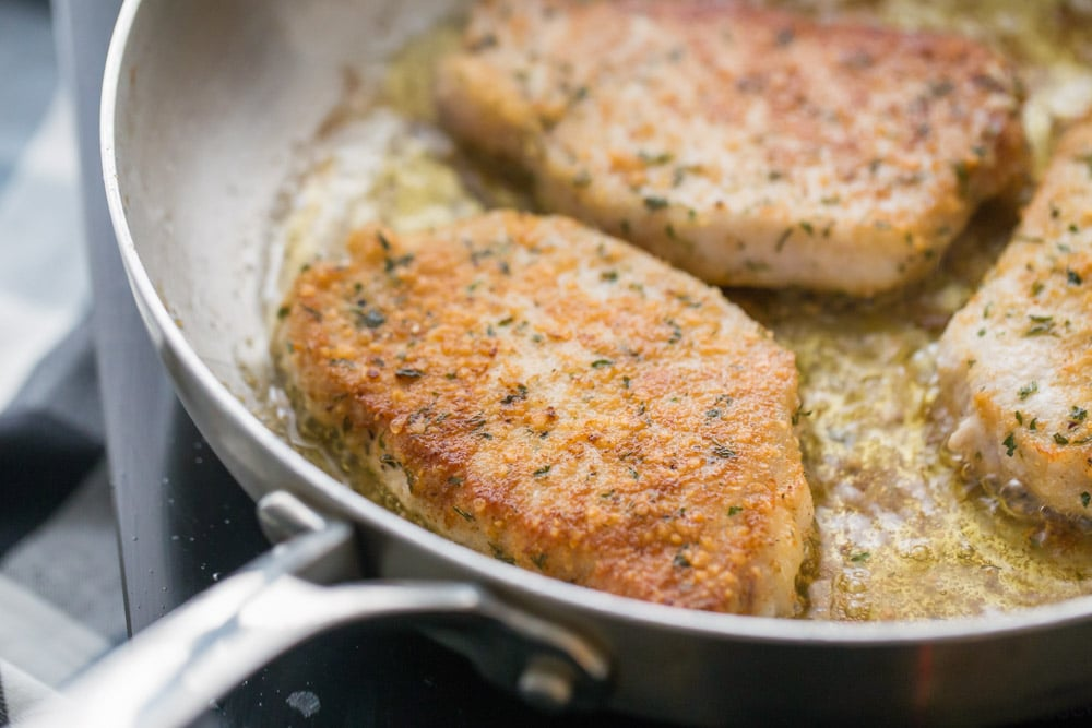 Parmesan Crusted Pork Chops Recipe (+VIDEO) | Lil' Luna