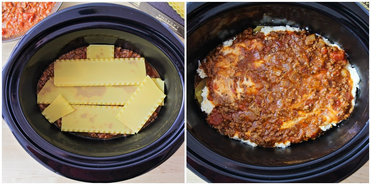 Crock Pot Lasagna Layers