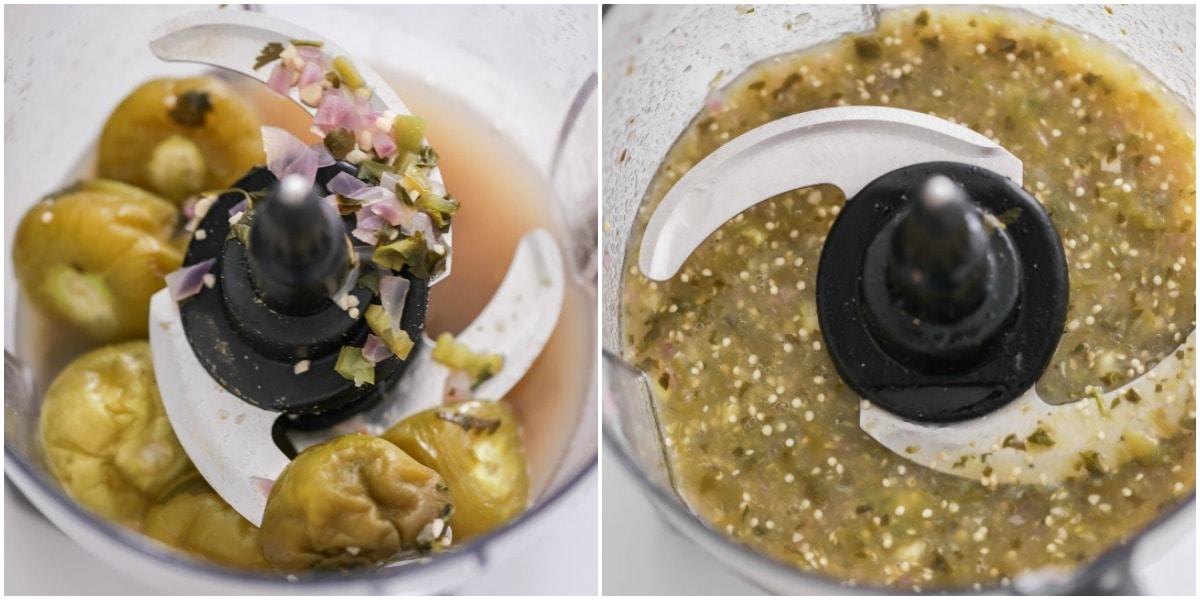 Tomatilla salsa recipe process pics