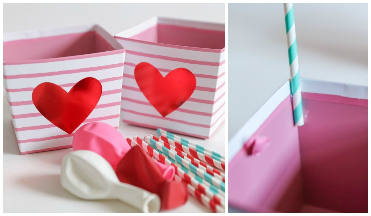 How to Make Hot Air Balloon Valentine Box