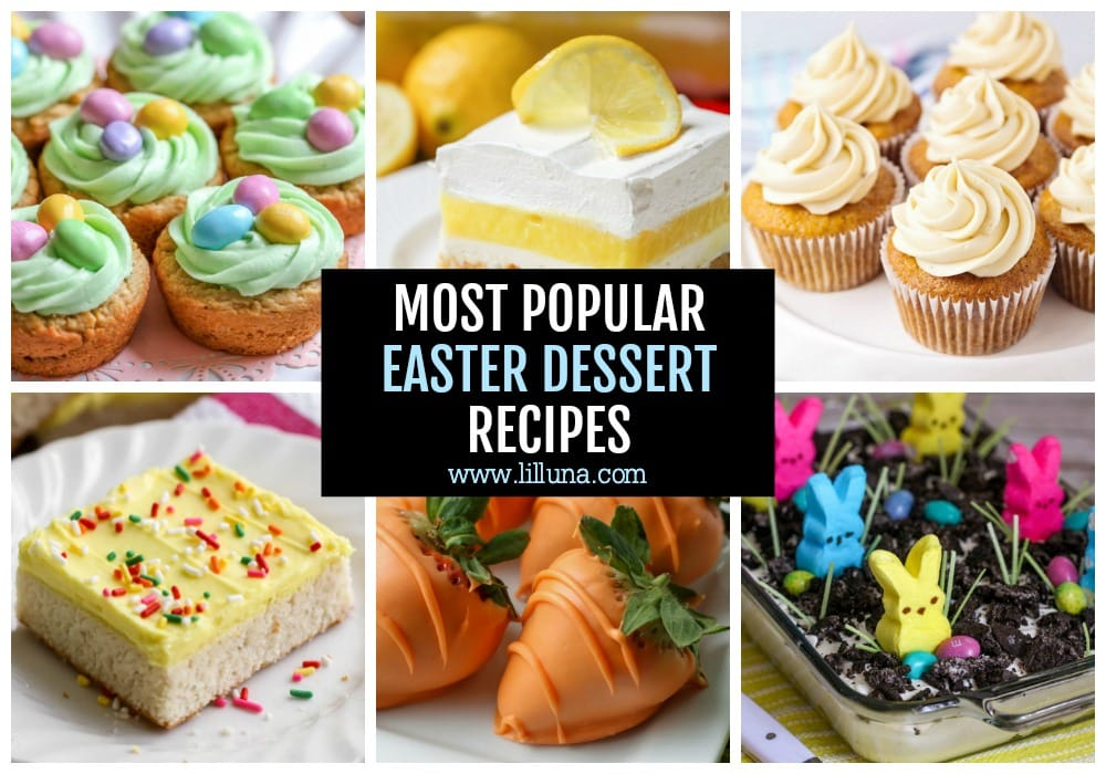 Collage of Easter Dessert Recipes
