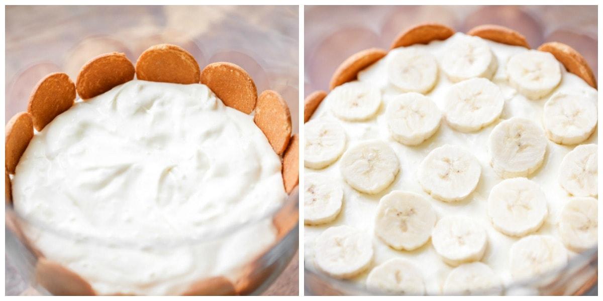 Nilla Wafer Banana Pudding layers