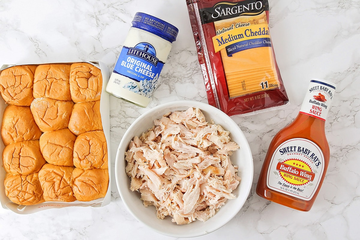 Buffalo chicken sliders ingredients