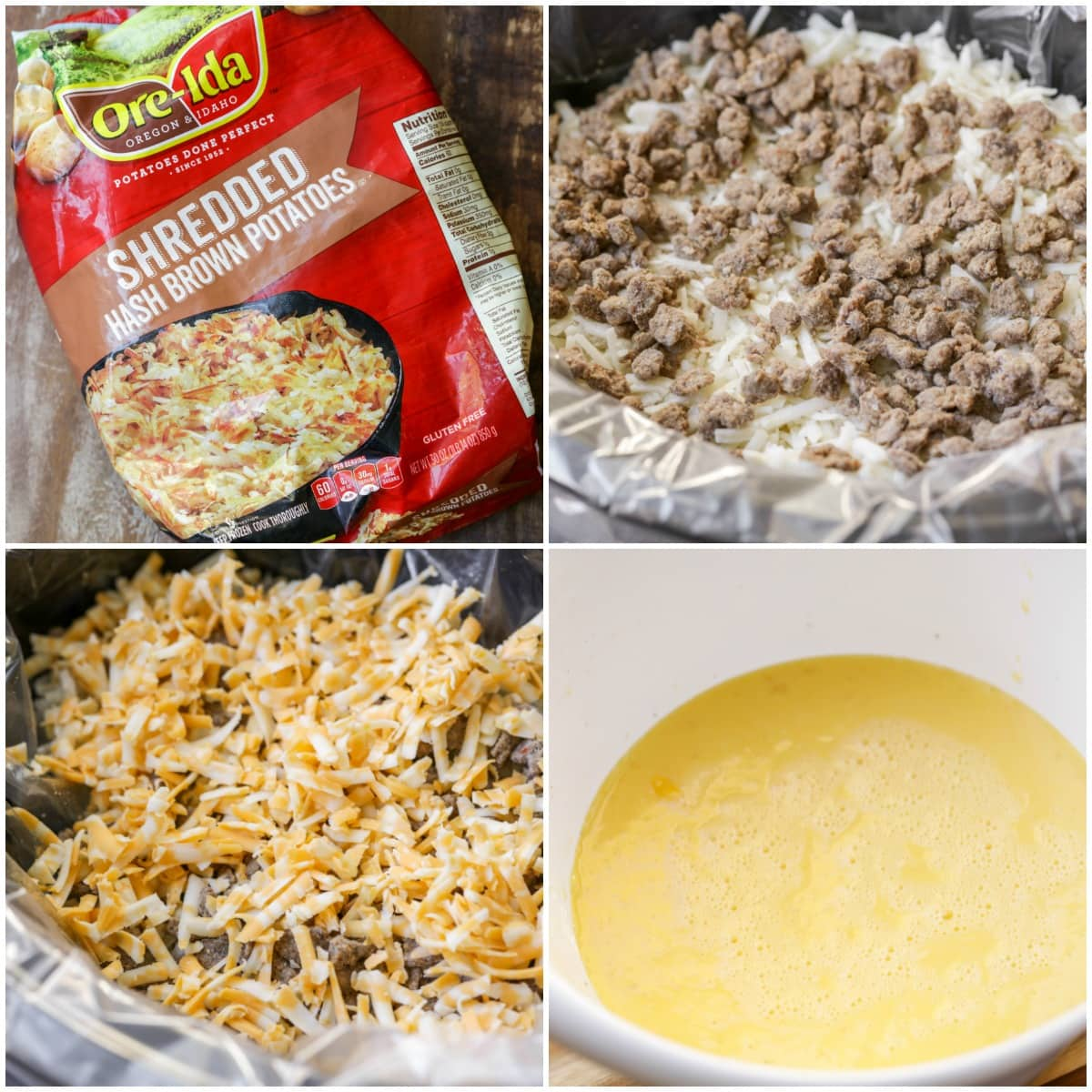 Crockpot Breakfast Casserole With Hashbrowns And Sausage