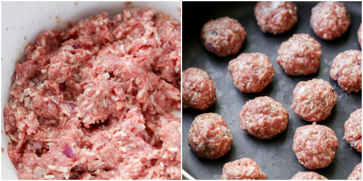 How to make porcupine meatballs process pics